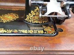 Jones Sewing Machine CS Antique 1893 Manual Pre-WW1 Cased Serial Num 70171