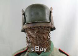 Kettenmaske 1wk helm stahlhelm pickelhaube casque helmet brow plate ww1