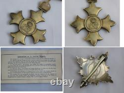 Knight Commander of the Order of the British Empire K. B. E. WWI Knighthood