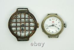 LOT OF 2 ROLEX Military Officers and Doctors Red Cross Corps Trench Watches WW1