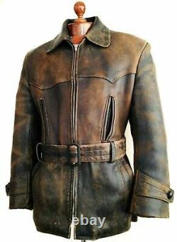 Leather 30s WW2 HORSEHIDE GERMAN LUFTWAFFE OFFICERS Trench WW1 RFC Jacket Coat