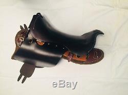 Light horse Army saddle, 1912 UP Swinging tree saddle, cavalry saddle