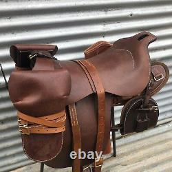 Light horse Army saddle full kit on, 1912 UP Swinging tree saddle, cavalry saddle