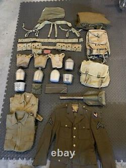 Lot of Original WW1 WW2 Gear and Uniforms