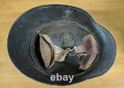 M16 German WW1 WWI Helmet Signed Note Recieved @ Dugouts via French Soldier ET64