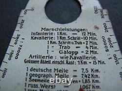 Marschleistungsmesser für Kavallerie, Infantrie und Artillerie Kartentasche WW1