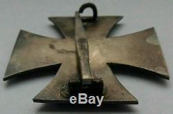 Medal German Ww1 Iron Cross 1 St Class Not Maker Marked In Orange Case