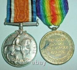 Medals-ww1 War & Victory Pair Pte Johnson New Zealand Expeditionary Force Nzef