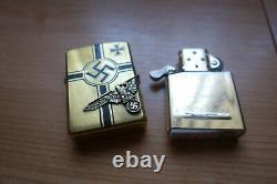 Mega rare Zippo WW2 nazi themed ltd edition brass lighter VGC one of only 43