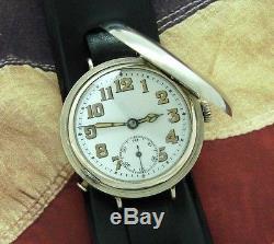 Men's CRISP World War I Era Misc. Swiss Hunter Cased Wristwatch SERVICED