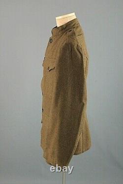 Men's NOS 1918 WWI US Army OD Wool Tunic Sz M WW1 Vtg Deadstock Jacket