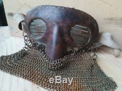 Militaria masque de tankiste anglais français casque ww1 14/18