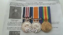 Military Medal & Ww1 Pair Full Entitlement 22nd Battalion Aif Australian Anzac