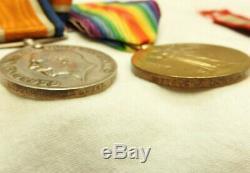 Military WWI Pair & HM Coastguard Long Service Good Conduct Medal Trio (5265)