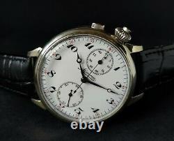 Minerva Chronograph Military WWI Watch Antique 1910's Vintage Watch Men's