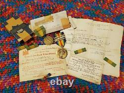 Named WWI NY 27th Infantry Division Medal Grouping Numbered Mexican Border Medal