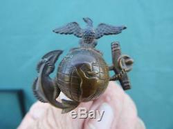 Nice U S Marine Original Usmc Ega Sb Hat Helmet Emblem Ww1- Earlier-
