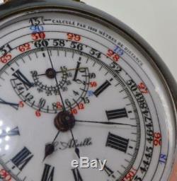 ONE OF A KIND WWI Imperial Russian Submarine Captain's Chronograph award watch