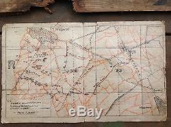 Original Ww1 British Army Trench Map Of Thiepval With Trench Sign, Dated 1916