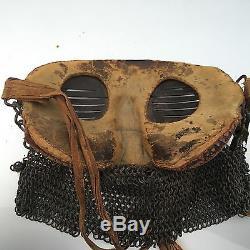Original Ww1 British Tank Splatter Mask Chain Mail