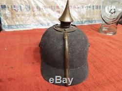 Original Ww1 German Ersatz Pickelhaube Helmet C1915 Regimentally Marked