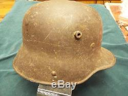 Original Ww1 German M16 Helmet With Provenance And Capture Details