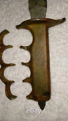 ORIGINAL WW 1 US 1918 L. F. & C. Trench knife