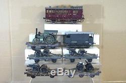 O GAUGE KIT BUILT SE&CR LSWR WWI ARMY GUN WAGON TRAIN SET & TRACTION ENGINE mv