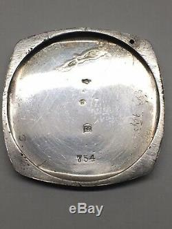 Officers Trench Watch Wrist Cushion WW1 Swiss French Solid Silver 32mm Working