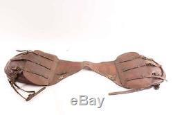 Old Antique World War One Era US Leather Saddlebags Model 1904