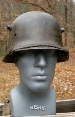 Old Original WW1 German Helmet with Chin Strap and Liner Stahlhelm M1918