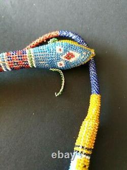 Old Turkish Bead-work WW-1 Prisoner POW Snake beautiful collection piece