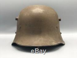 Original Named German Austrian WWI M18 Helmet w Chistrap WW1 / WW2 WWII Toy