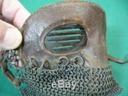 Original Rare Ww1 British Tank Crew Splinter Face Mask (7m)