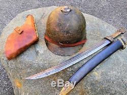Original Russian WW1 WWI M17 1917 Sohlberg helmet, also used in WW2 WWII