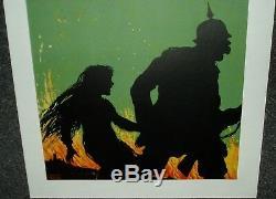 Original U. S. Ww1 Poster Remember Belgium 1918 Bright Strong Colors No Fade