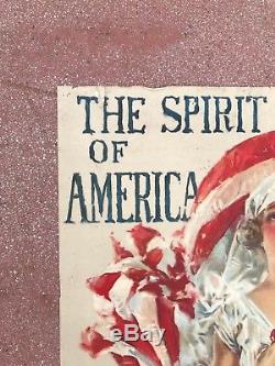 Original Vintage WWI Poster Spirit America Howard Chandler Christy Red Cross