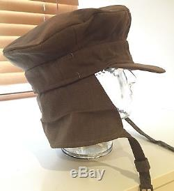 Original WW1 British Officers' Gor Blimey Trench Cap