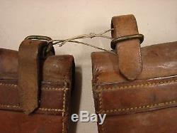 Original WW1 Canadian 1916 Pattern Leather Ammo Pouches -Toronto Dated PAIR
