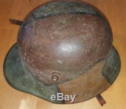 Original WW1 German M16 Camo Camouflage Stalhem Helmet G62