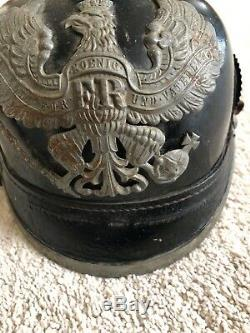 Original WW1 German Prussia Picklehauben Helmet Artillery Hard To Find