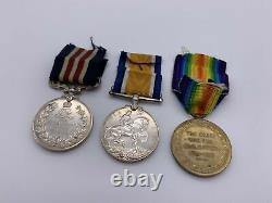 Original WW1 Spring Offensive Military Medal (MM) and Pair, Middlesex R, Wounded
