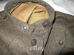 Original Ww1 Usmc Marine Uniform Coat Forest Green Wool