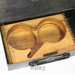 Original WW1 US Colt M1911 squad cleaning kit metal box with wood insert