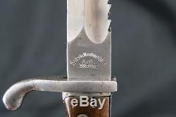 Original WWI A. G. Duisburg Sitengewehr M1898/05 Sawback K98 Bayonet & Scabbard