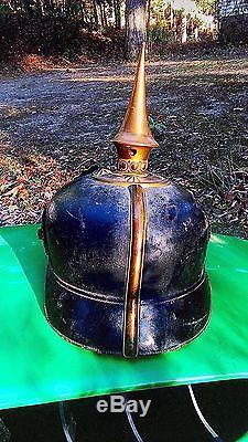 Original WWI German Unit Spike Helmet