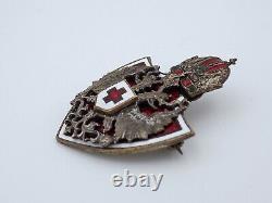 Original WWI Imperial Austrian Red Cross Enamel Badge
