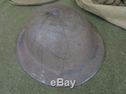 Original WWI U. S. Helmet / Dog Tag Set / Overseas Cap & More