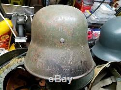 Original WWI WW1 Afghanistan M16 German Steel Helmet, found in Afghanistan