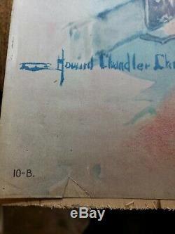 Original World War 1 Liberty Bond Poster CLEAR THE WAY! Howard Chandler Christy